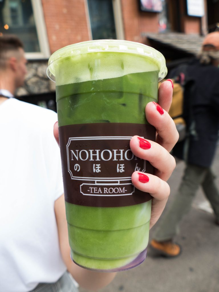 New York Walking Food Tour Nohohon Matcha Tea Furano Field drink