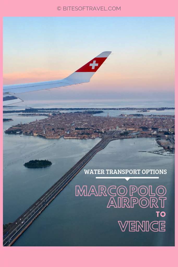 Guide from Marco Polo Airport to Venice using different water transport options