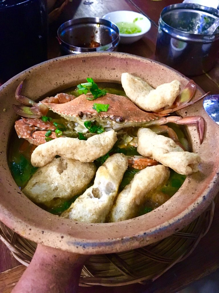 Banh Canh Ghe at Banh Canh Ghe Muoi Ot Xanh