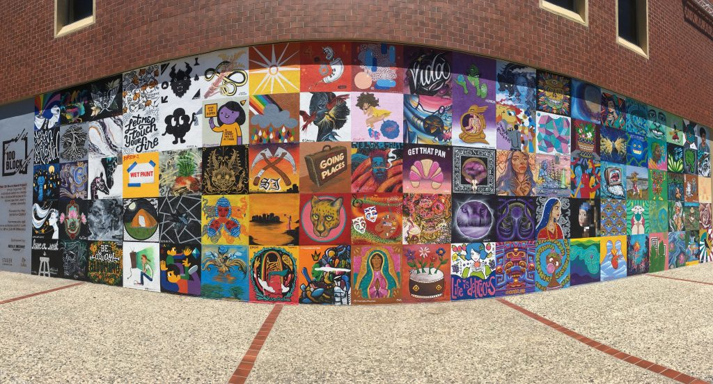 900-square foot mural on South First Street in San Jose, CA