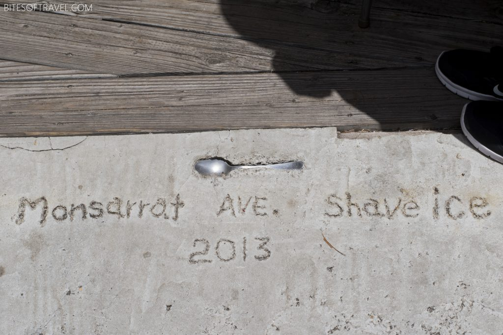 Floor of Monsarrat Shave Ice Shop